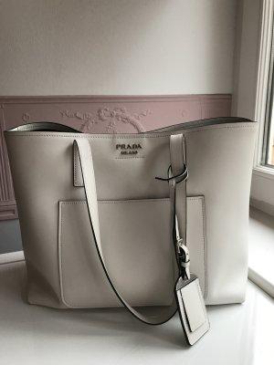 Prada Handtasche aus cremeweissem Leder