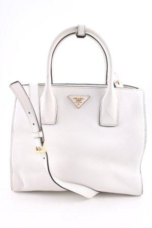 Prada Handtasche weiß Business-Look