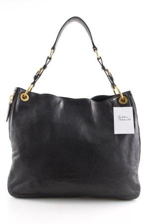 Prada Handtasche schwarz-goldfarben Casual-Look