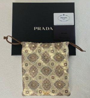 Prada, Handtasche, Seide Brokat, goldfarben, neu, € 800,-