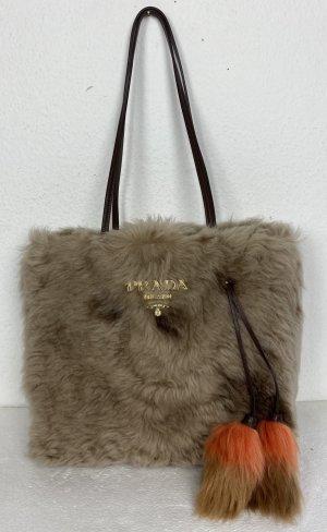 Prada, Handtasche/Shopper, Sheepskin, Beige/Cammello, neu, € 1.750,-