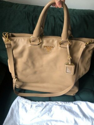 Prada Carry Bag gold-colored-light brown leather