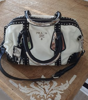 PRADA Handtasche, weiß/schwarz,  sehr ausgefallen!