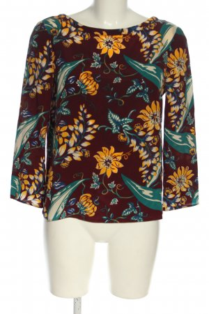 Prada Hemd-Bluse braun-hellorange Blumenmuster Casual-Look