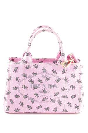 Prada Henkeltasche rosa-grau extravaganter Stil