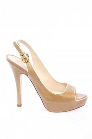 Prada High Heel Sandaletten braun Casual-Look