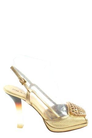 Prada High Heel Sandaletten goldfarben Elegant