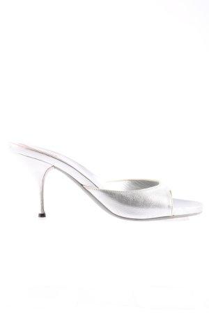 Prada High Heel Sandal silver-colored elegant