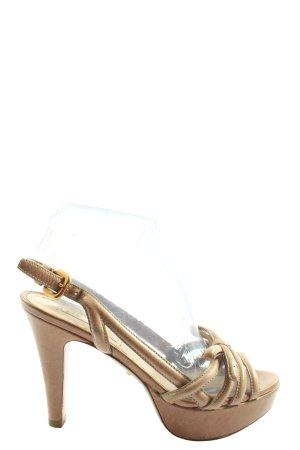 Prada High Heel Sandaletten wollweiß Elegant
