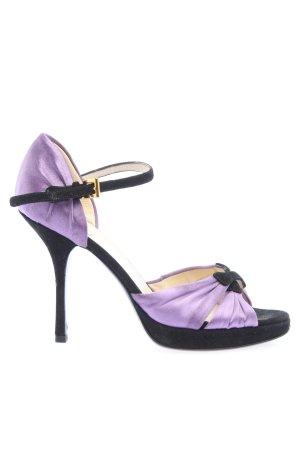 Prada High Heel Sandaletten lila-schwarz Elegant