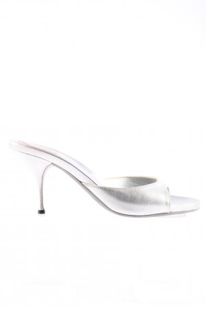 Prada High Heel Sandaletten silberfarben Elegant