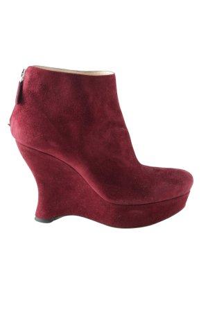 Prada High Heel Stiefel rot Casual-Look
