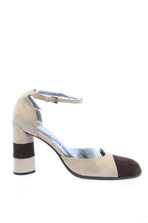 Prada High Heels wollweiß-braun Business-Look