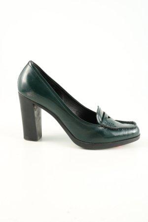 Prada High Heels grün Business-Look