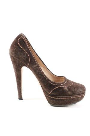 Prada High Heels braun Casual-Look