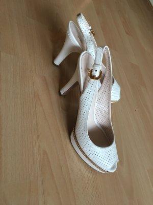 PRADA High Heels cremefarben Gr.39 NEU und ungetragen