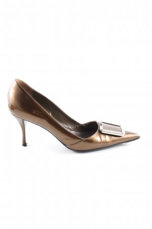 Prada High Heels bronzefarben Glanz-Optik