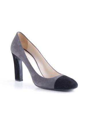 Prada High Heels grau-schwarz klassischer Stil