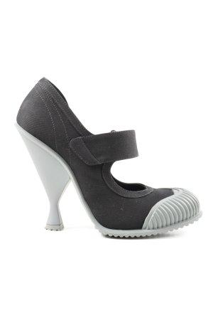 Prada High Heels schwarz-hellgrau extravaganter Stil