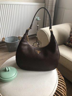 Prada Hobos brown leather