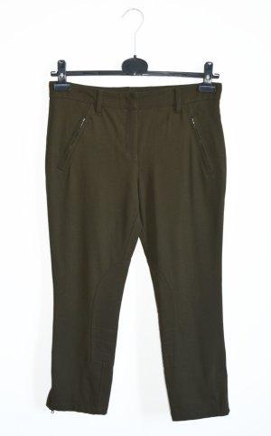 Prada Pantalone alla cavallerizza verde oliva Lana