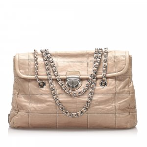 Prada Impuntu Leather Chain Shoulder Bag