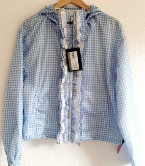 Prada Krótka kurtka biały-niebieski neonowy Poliamid