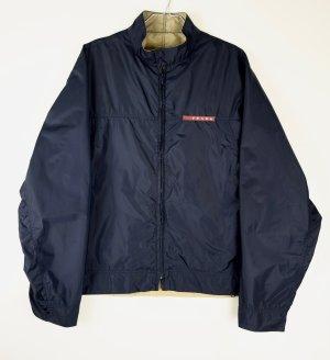 Prada Outdoor Jacket dark blue-oatmeal