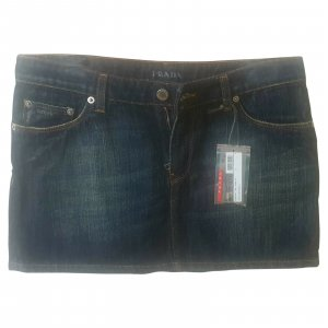 Prada Denim Skirt blue cotton