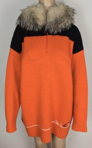 Prada, Kapuzenpullover, orange, 34/36 (It. 40), Virgin Wool/Silberfuchs, neu, € 2.250,-