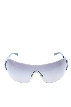 Prada Karée Brille schwarz Allover-Druck Casual-Look