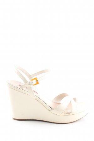 Prada Keil-Pumps creme Casual-Look