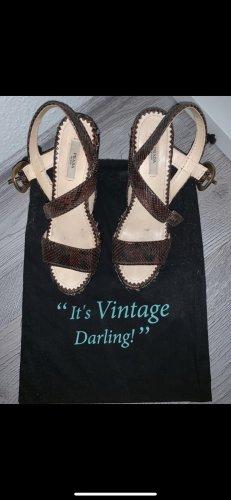Prada Plateauzool sandalen grijs-bruin-zwart bruin