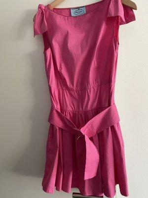 Prada Babydoll-jurk roze Katoen