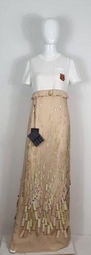 Prada Maxi Dress cream-white silk