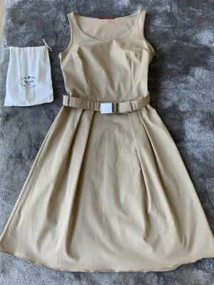 Prada Robe courte beige coton