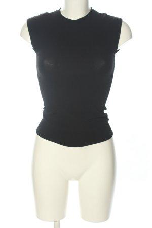 Prada Kurzarm-Bluse schwarz Casual-Look