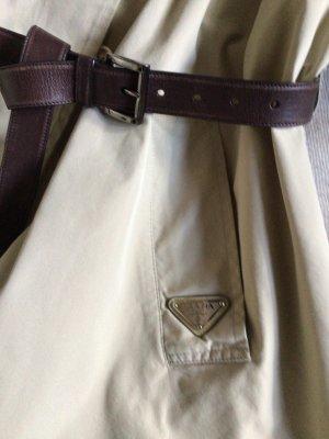 Prada Krótki płaszcz jasnobeżowy Bawełna
