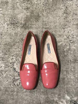Prada Patent Leather Ballerinas dark red-neon pink leather