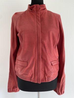 Prada Leather Jacket red leather