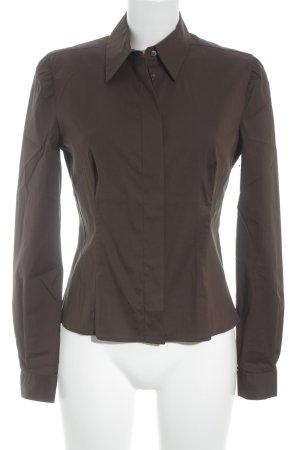 Prada Langarm-Bluse dunkelbraun Business-Look