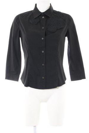 Prada Langarm-Bluse schwarz Business-Look