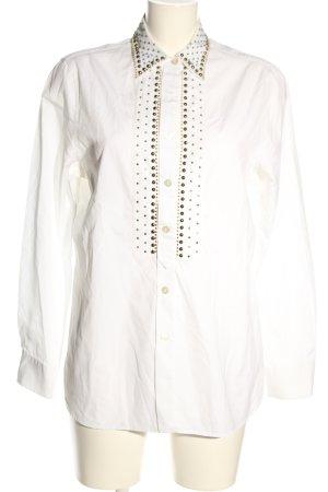Prada Camicia a maniche lunghe bianco elegante