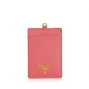 Prada Leather Badge Holder
