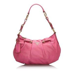 Prada Bolso rosa Cuero