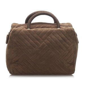 Prada Leather Boston Bag
