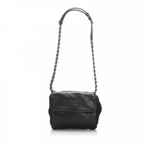 Prada Leather Chain Crossbody Bag