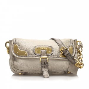 Prada Leather Chain Shoulder Bag
