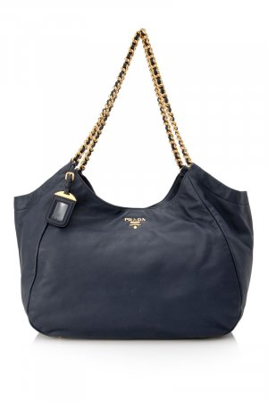 Prada Tote blue leather