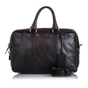 Prada Travel Bag black leather